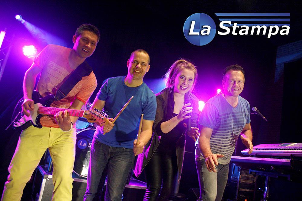 LQ Strooikaart 3 Feestband Coverband Bruiloftband La Stampa