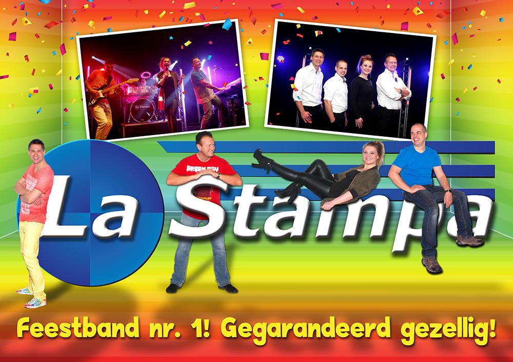 LQ Strooikaart 4 Feestband Coverband Bruiloftband La Stampa