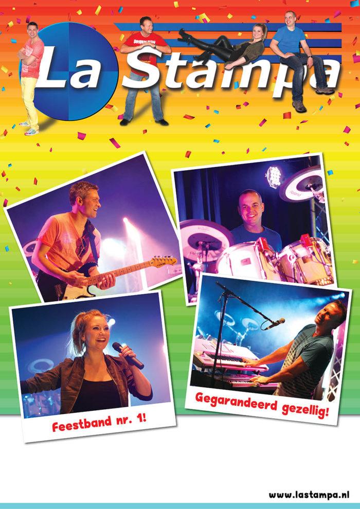 LQ Poster 4 Feestband Coverband Bruiloftband La Stampa